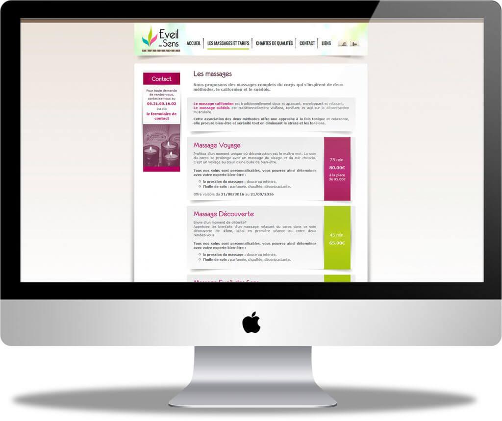 CRENOW Design - Eveil des Sens - Site Internet