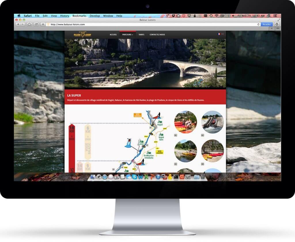 Balazuc Loisirs - Site internet - Ecran
