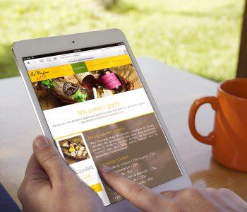 Utilisation sur tablette du site Internet de l'Épicerie La Virginie