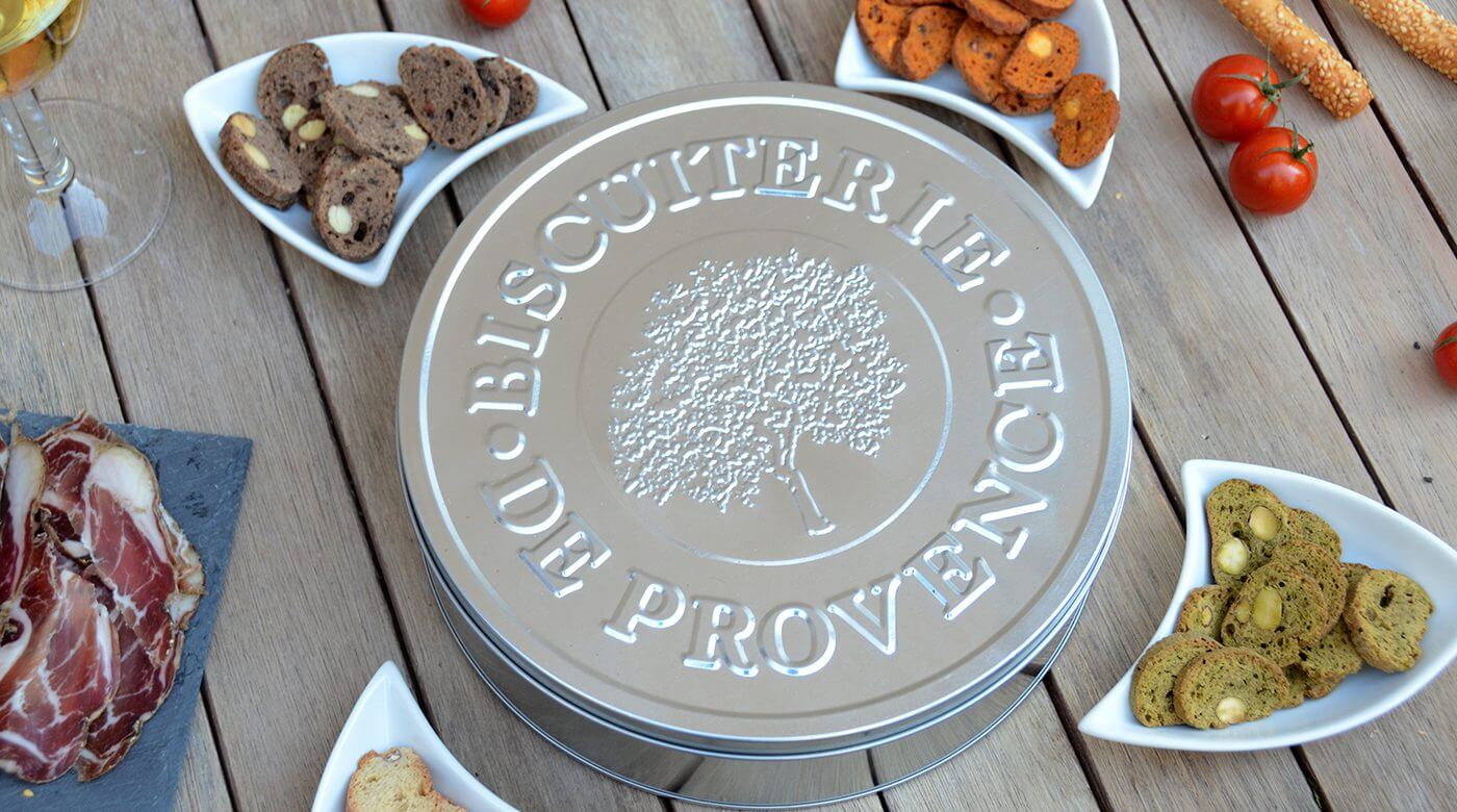 Biscuiterie de Provence - Boîte métallique détail