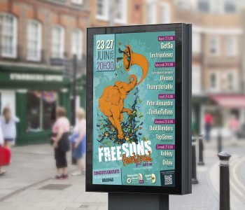 AGAM - Affiche Freesons festival 2015