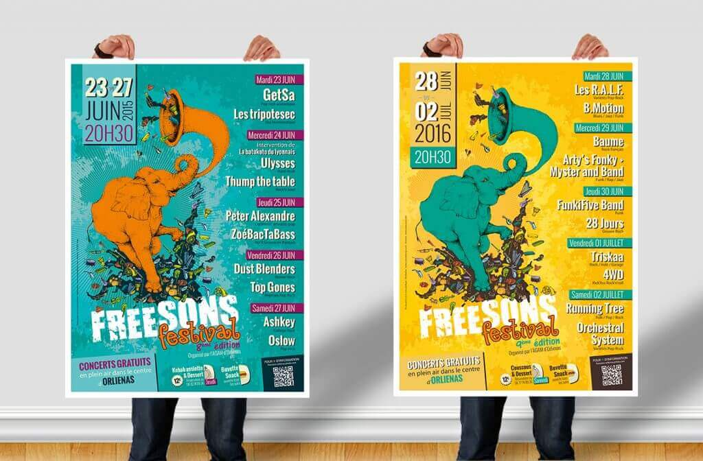 CRENOW Design - AGAM - Freesons Festival - Posters 2015 2016