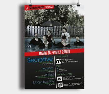 Miüzik Prod - Flyer Secrective