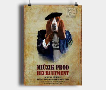 Miüzik Prod - Poster recrutement bénévole